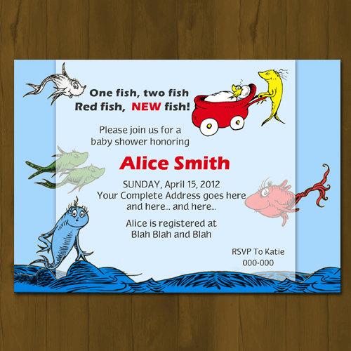 dr seuss one fish two fish baby shower invitation splashbox