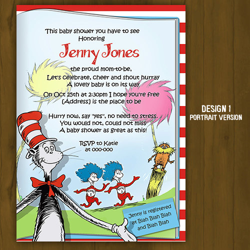 Cat In The Hat Baby Shower Invitations was very inspiring ideas you may choose for invitation ideas