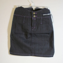 Tuxedo Denim Skirt (Brand New)