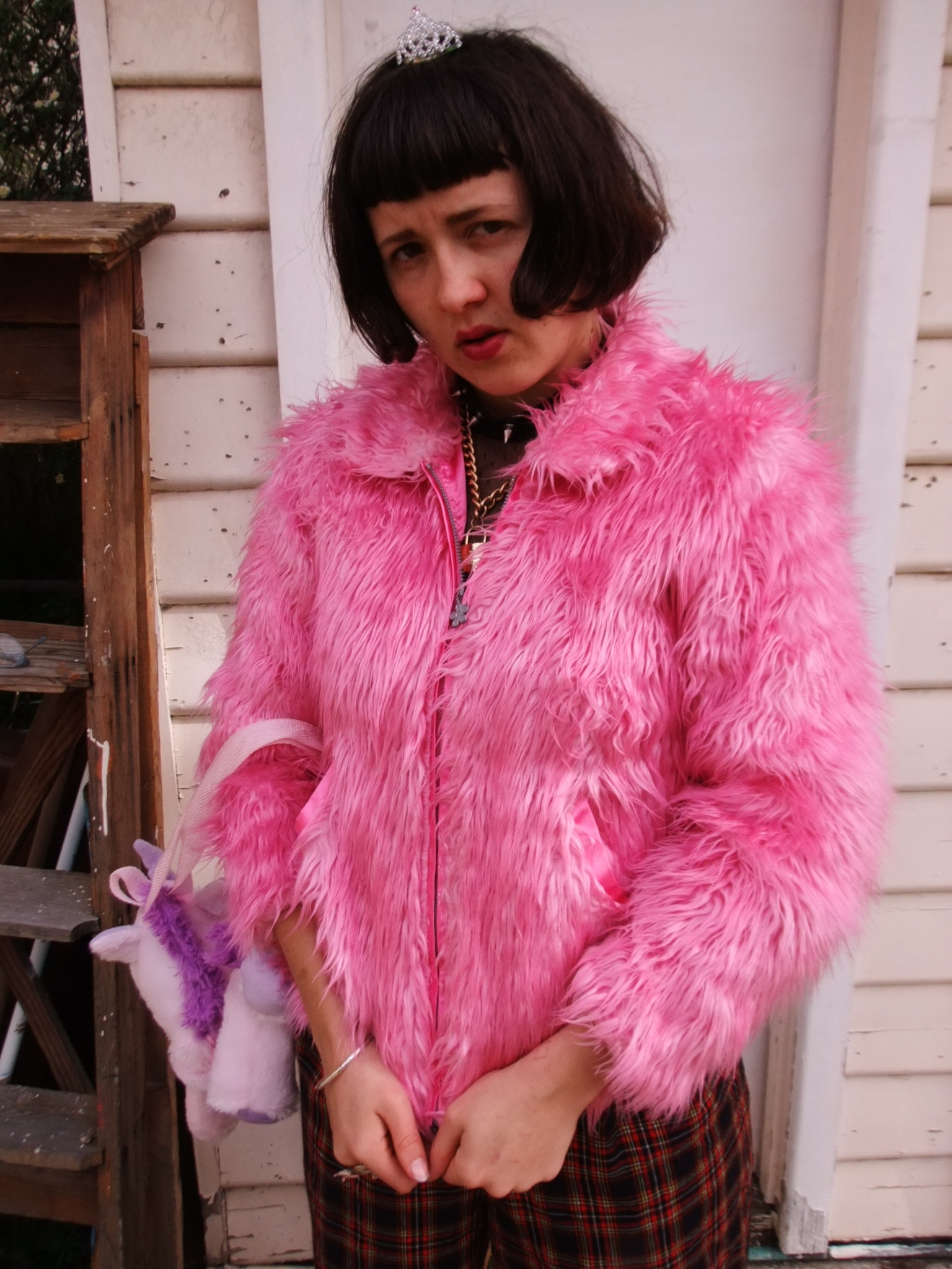PunksumoVintage | Cute 1990s early 2000s fluffy pink jacket