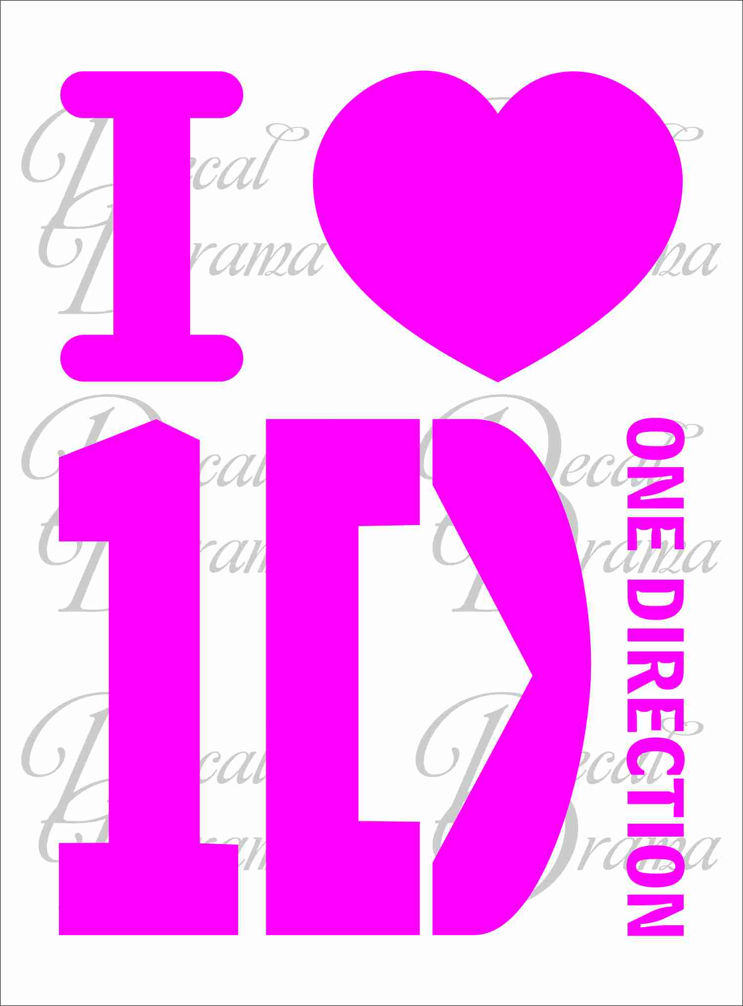 I [heart] 1D (I LOVE One Direction)-inspired wall art, ...