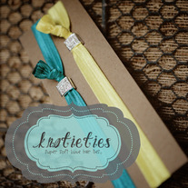 crystal square headband {knotieties} silver/clear