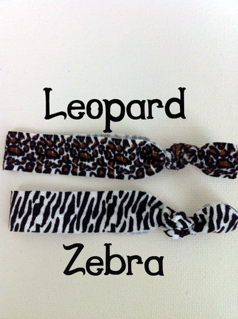 Sisterly Ties- No-Crease Hair Tie ANIMAL PRINT (ONE)
