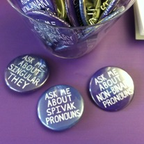 "1.5"" Ask Me About... Pronouns Buttons"