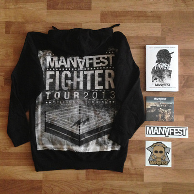 Book + hoodie + cd + sticker **package**