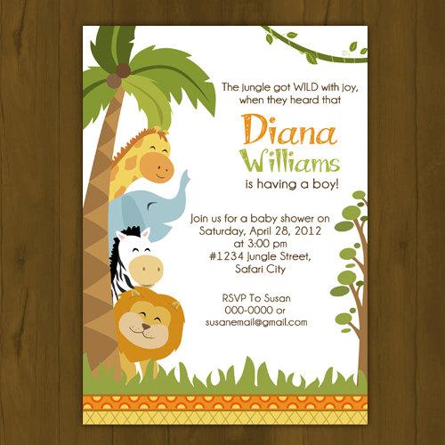 Safari Baby Shower Invitation: Safari Baby Shower Invitation On Storenvy