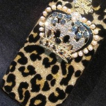 Leopard Bling Crown Case (iPhone 4/4s)
