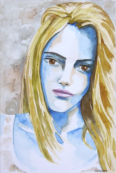 Original watercolor painting fashion illustration watercolor