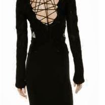 MCQ ALEXANDER MCQUEEN Black Cutout Sweater Dress 4 NWT