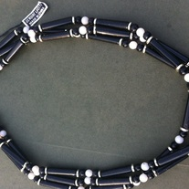 Vintage Black and White LUCITE Necklace