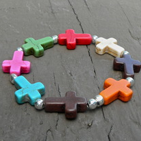 Multi-Color Cross Bracelet