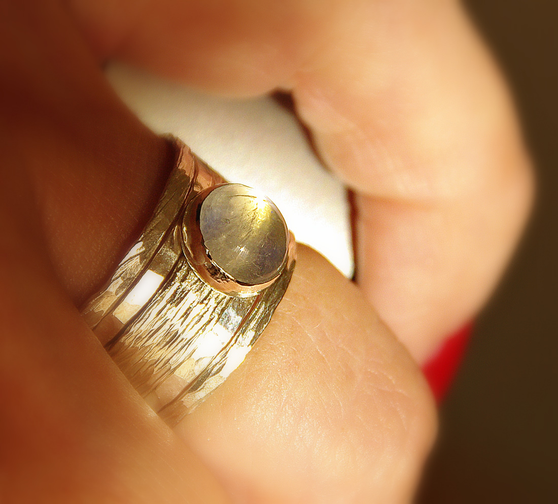 simone unique rustic stackable moonstone wedding ring thumbnail 2 - Rustic Wedding Rings