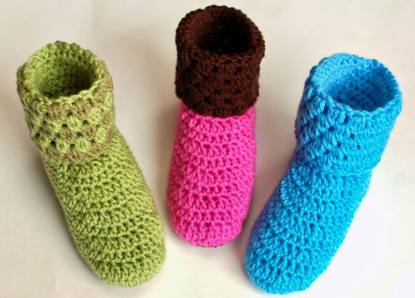Crochet Pattern - Ladies Crochet Booties Slippers Pattern (Women\'s ...