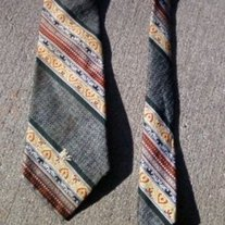 Schiaparelli Striped Men's Wide Tie Vintage