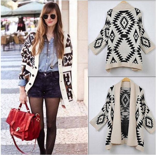 Oversized Cardigan Batwing Loose Cape Wrap Sweater Jacket Outrwear ...