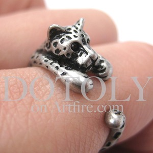 Miniature Leopard Ring in Silver Sizes 4 to 9 available