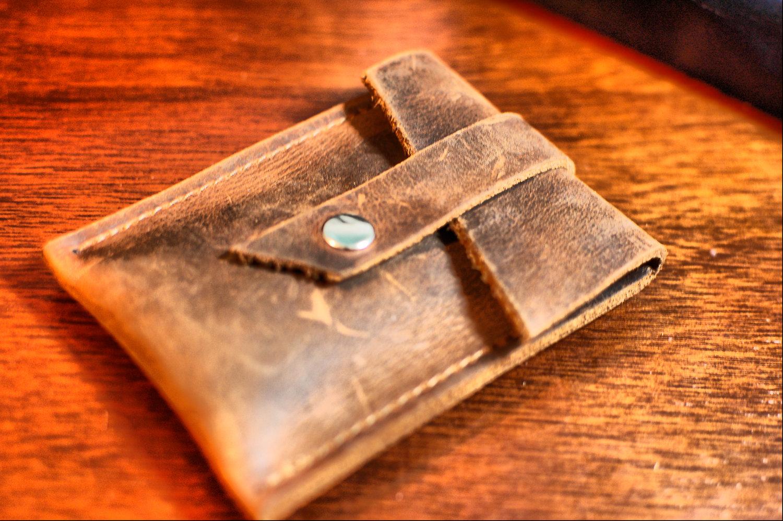 Men\'s Leather Credit Card Wallet / Business Card Holder - Industrial ...