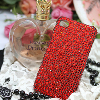 New Bling Bling Crystal All Red Rhinestones iPhone 4/4S Case (#683)