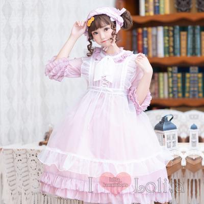 Japanese fashion harajuku 2 piece kawaii simple color fancy dress casual dress lk19091903