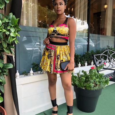 She's fancy skirt set
