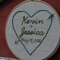 Customized Wedding Hoop