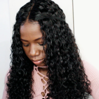 Natural Wave Handmade Human Hair Wig - Thumbnail 4