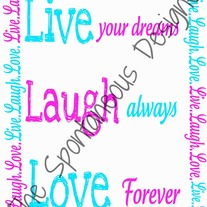 Live.Laugh.Love print digital file