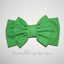 Grass Green Double Bow