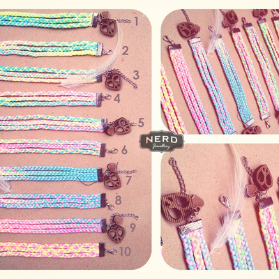 Pastel peace lover 3 stripes bracelet