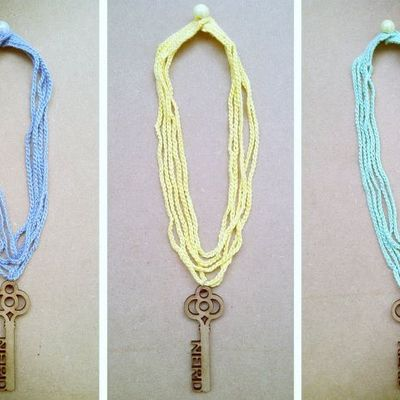 Crochet key necklace