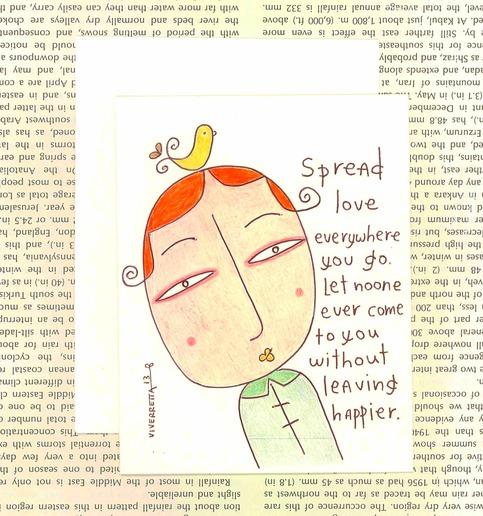 Spread Love Everywhere You Go - Card
