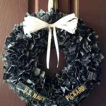 Navy BDU Wreath WITH Nametapes