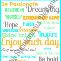 Live laugh love inspirational subway art digital file