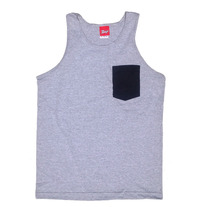 Black Corduroy Pocket Tank