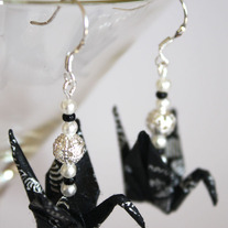 Origami Earrings - Black