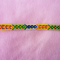 Diamonds Braided Friendship Bracelet