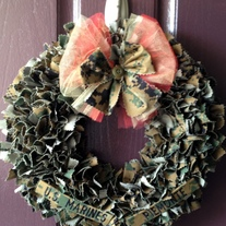 USMC Woodland Cammie Wreath WITH Nametapes