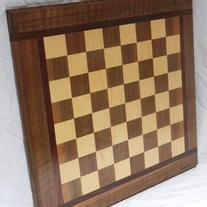 Wood Checkers/Chess Board
