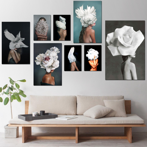 African American Portrait Nude Wall Art Print No.AW