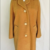 Vintage 60s Long Wool Camel Coat