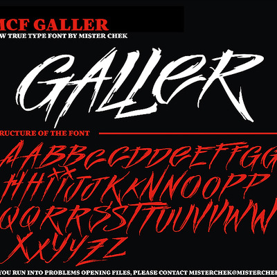 Galler font by mister chek [new]