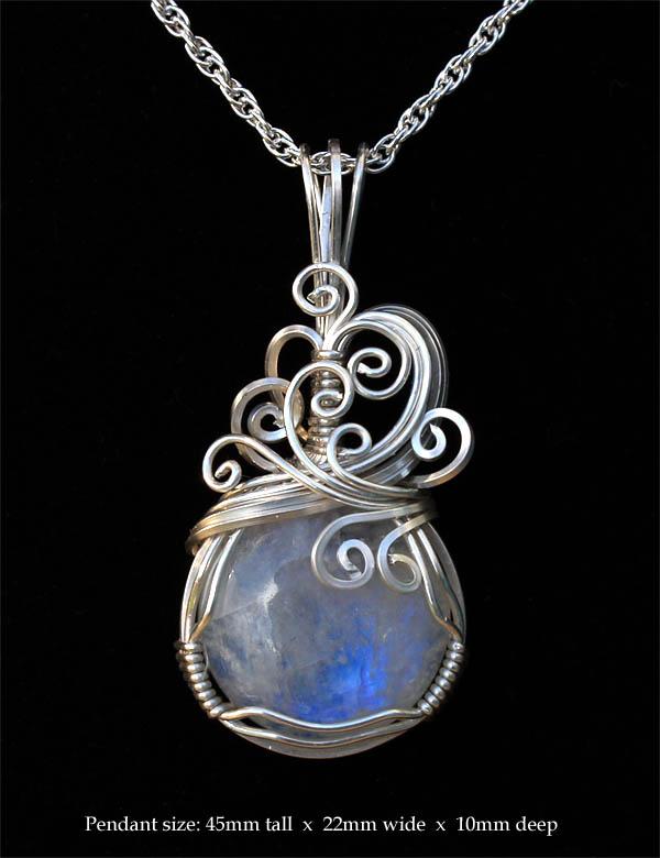 Windy moonstone pendant featherdust studio online store powered windy moonstone pendant aloadofball Gallery