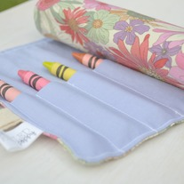 Crayon Roll {Wildflowers}