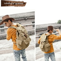 Fantastic multi pockets canvas backpack unisex - Thumbnail 4