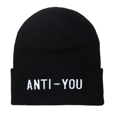 """anti-you"" embroidered beanie"
