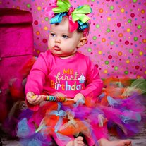 MY FIRST BIRTHDAY TUTU SET Long Sleeve Onesie with Tutu Dress Up Party Rainbow Balloon Colors