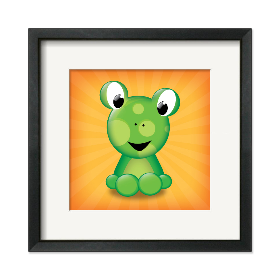 Frog_square_framed_original