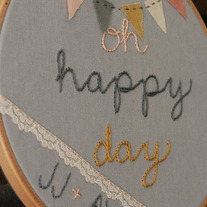 Custom Wedding Hoop- Ashleigh