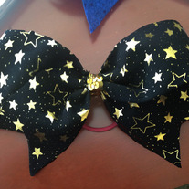 Black and Gold Star bow