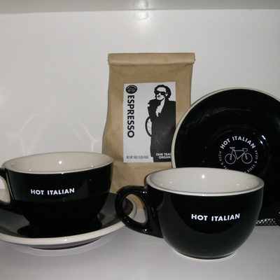 Hot italian latte cup gift set